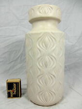 "White 70´s SCHEURICH ""Amsterdam/SLICED Onion"" Design Pottery Vase 285 - 23"