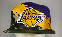 Mitchell and Ness NBA Los Angeles Lakers Camo Paintbrush Snapback Hat, Cap, New