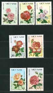VIETNAM OLD STAMPS 1988 - Flora - Roses - USED/CTO