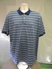 CHAPS GOLF 78 Stay Dry Blue and White Shirt Men's XLarge