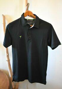 TRAVIS MATHEW THE CHIVE Men's Small 4-Button Black Golf Polo *Mint*