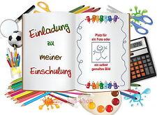 8 Einladungskarten Einschulung Schulanfang 1. Schultag Einladung Schule