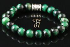 Tigerauge Armband Bracelet Perlenarmband grün 8mm