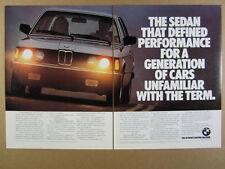 1982 BMW 320i Sports Sedan photo vintage print Ad