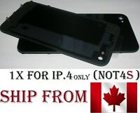 Back Plate Battery Housing Cover Glass Replacement for iPhone 4 BLACK iphone4 4G