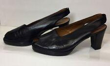 Peep Toes Block Formal 100% Leather Upper Heels for Women