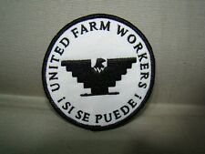 White & black United Farm Workers patch Si Se Puede patch UFW patch huelga patch