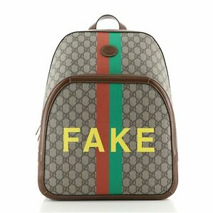 Gucci Fake/Not Backpack Printed GG Coated Canvas Medium
