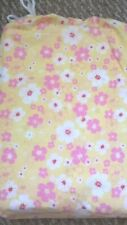 New Pottery Barn Kids HIBISCUS FLORAL Full SHEETS girl yellow pink flowers