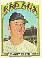 1972 Topps Baseball #676 Danny Carter Boston Red Sox Card HI Number SP