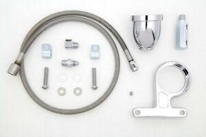 Rocker Box Oil Pressure Gauge Cup Kit for Harley Davidson by V-Twin