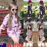 AU Toddler Baby Girl Floral Romper Bodysuit Jumpsuit Sunsuit Kid Clothes Outfits