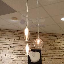 Lampadario lampada sospensione design moderno minimal acciaio cromato cucina