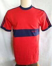 Vintage Adidas Trefoil Logo 80s Mens Short Sleeve Ringer Red T Shirt Size M
