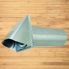 Deflecto Dryer Vent, Wide Mouth Galvanized Vent Hood, 4, Silver GVH4NR photo