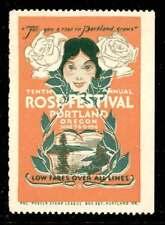 USA Poster Stamp - 1916 Portland, Oregon - Rose Festival - Signed F G Cooper