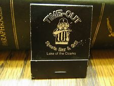 New Vintage Time-Out Sports Bar & Grill Lake Of The Ozarks Missouri Matchbook