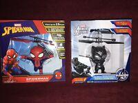 One Each Marvel Spiderman & Black Panther Heli Ball Levitating Hero Total 2 -1