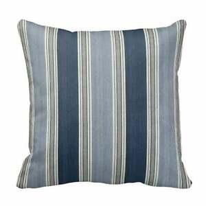 Waverlly  Blue Spotswood Stripe Pillow  Cover
