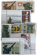 Switzerland 10 Military Stamps WWII  Mint
