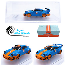 Cm-Model 1:64 Rwb Porsche 911 (964) Gulf - Deck Wing / Gt Wing - Diecast Model