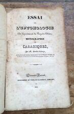 1836 BAUDET-LAFARGE Entomologie du département du Puy-de-Dôme. Les carabiques