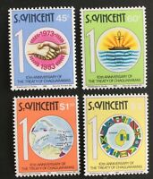 St. Vincent.  10th Anniv of Treaty of Chaguaramas. SG719/22. 1983. MNH. #AB133