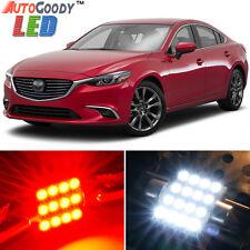 12 x Premium Red LED Lights Interior Package Kit for 2009-2017 Mazda 6