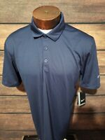 Nike Golf Dri Fit Mens Medium Navy Blue Short Sleeve Golf Polo Shirt New