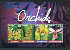 Gambia 2015 MNH Orchids 4v M/S Flowers Flora Ansellia Polystachya