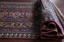 Pre-1900 Antique VEGETABLE DYE 19 ft Long Runner Floral Dorokhsh Wool Rug 4'x19'