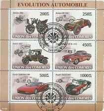 Timbres Voitures Comores 1249/54 o année 2008 lot 12195 - cote : 20 €