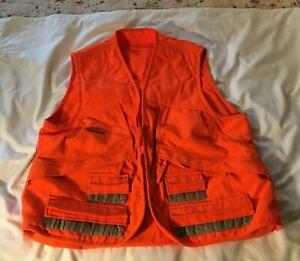 Hunting Vest Columbia Sportswear Blaze Orange Size XL 24 SHELL 3 POCKET BIRD BAG