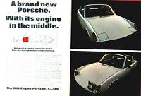 """Porsche 917- Porsche 914 Mid Engine Vintage Original 1970 Print Ad 8 x 11""""1 Page"""