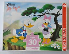 DONALD & DAISY DUCK PUZZLE 30 Pieces JEUX NATHAN Walt Disney