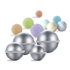 8pcs/Set DIY Metal Bath Bomb Mold with 3 Sizes Aluminum for Crafting Own Fizzles