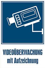 Schild / Aufkleber Videoüberwachung mit Aufzeichnung 300x200mm Kameraüberwachung