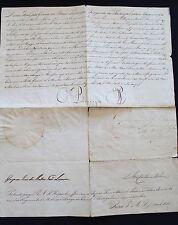 1811 Royal Letter signed King JOÃO VI  Marshal Beresford - Rio de Janeiro Brazil