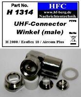 1 Stück UHF-Winkelstecker für Ecoflex 10/Aircom Plus/H 2000 Flex® - 50 Ω (H1314)