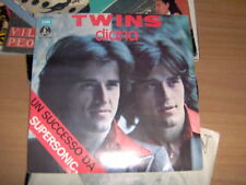 "7"" TWINS DIANA PAUL ANKA ITALY 1974 TENDERNESS EX/EX++"