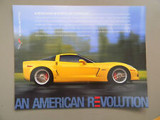 2006 Chevy Corvette Fact Sheet for Corvette Coupe, Convertible or Z06