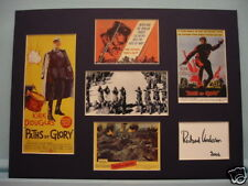 Kirk Douglas in Paths of Glory signed Richard Anderson