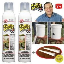 2 JUMBO Flex Shot CLEAR Rubber Sealant As Seen On TV By Flexseal