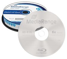 10 Mediarange BDR BD-R DL Blu ray Double Layer 50GB 270 min 6x cakebox MR507