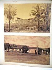 C 1880S TWO ALBUMEN PHOTOS SAN DIEGO MISSION MARRIAGE PLACE OF RAMONA CALIFORNIA