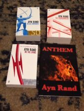 Lot of 4 Ayn Rand books Atlas Shrugged Fountainhead Anthem We the Living