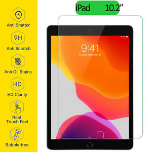 """Tempered Glass Film Screen Protector For Apple iPad 10.2"""" 7th Generation New Gen"""