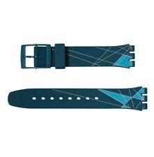 "ORIGINAL SWATCH 17mm GENT ARMBAND ""OLYMPIC 2012 BLUE"" (AGZ142)   NEUWARE"