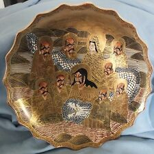 Japanese Satsuma Shimazu Immortals Plate 8.5 inches d.