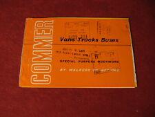 1962 Commer rig Semi Bus Van Truck Sales Sheet Brochure Booklet Catalog Book Old